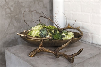 Antler and Antler Bowl Set Of 2 By Accent Decor
