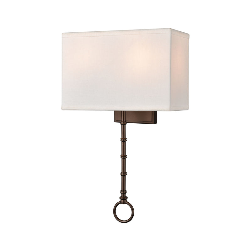 Shannon 2-Light Wall Lamps with White Fabric Shade by ELK Lighting