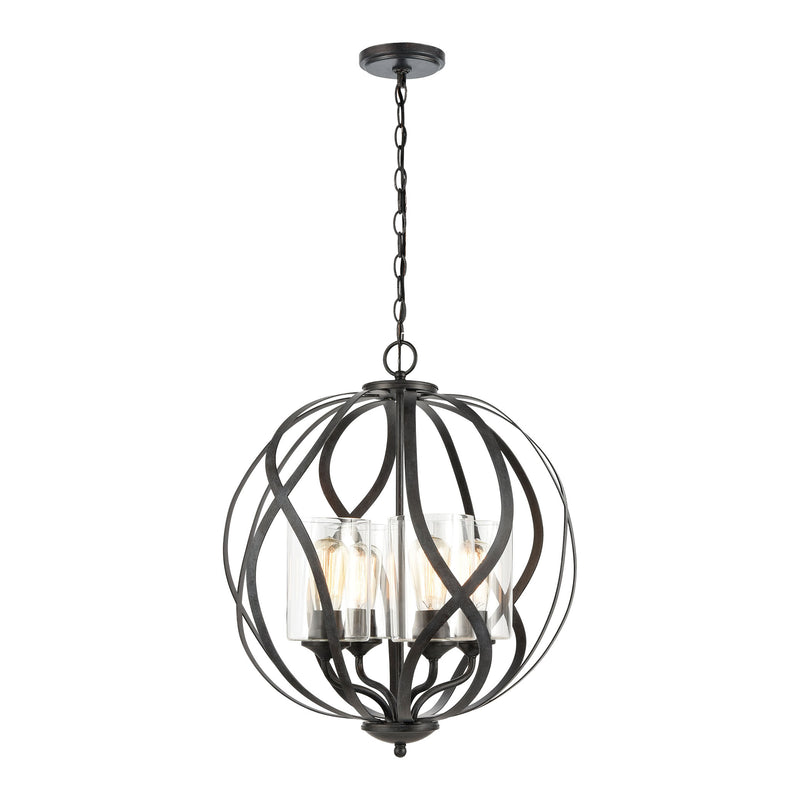 Daisy Chandelier in Midnight Bronze with Clear Glass by ELK Lighting