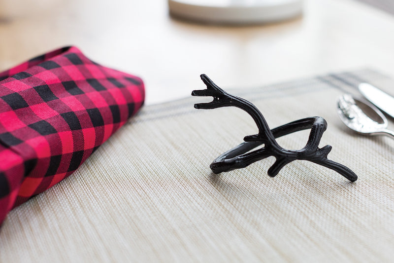 Antler Napkin Ring Set of 8 By Accent Decor
