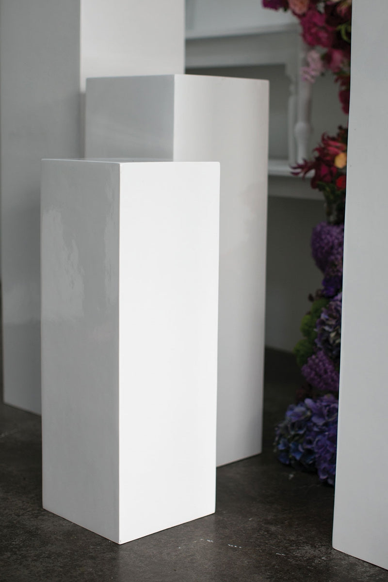 Blanc Column  Set Of 2 By Accent Decor