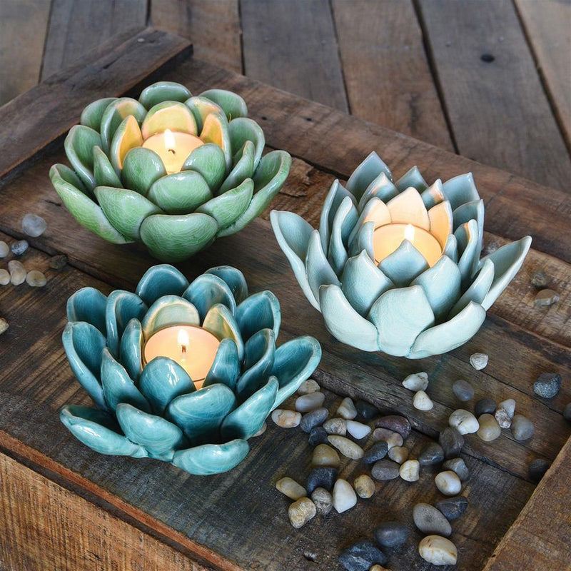 HomArt Succulent Tealight Holder - Set of 4