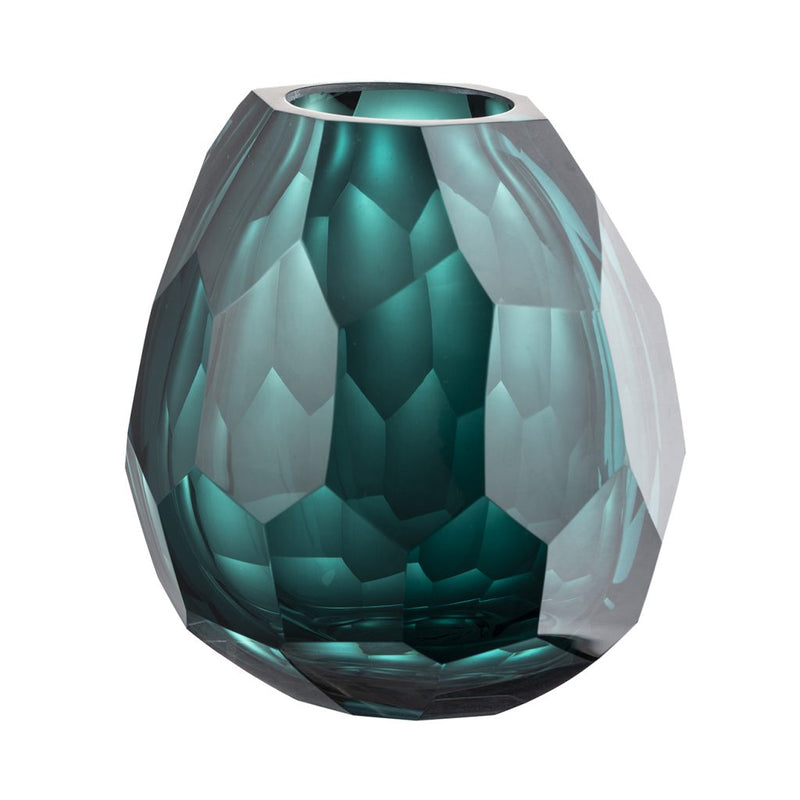 A&B Home Green Diamond Vase