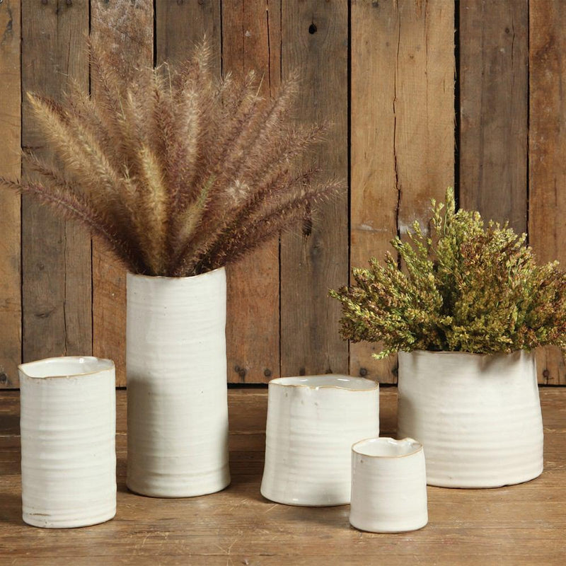 HomArt Bower Ceramic Vase - Fancy White