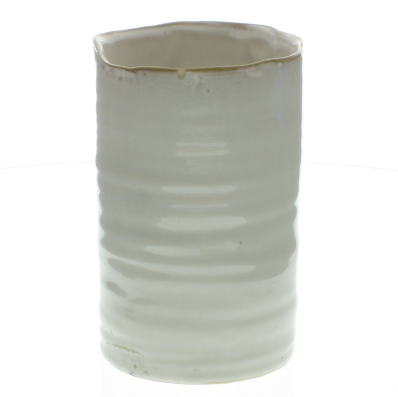 HomArt Bower Ceramic Vase - Fancy White - Med Wide - Set of 6