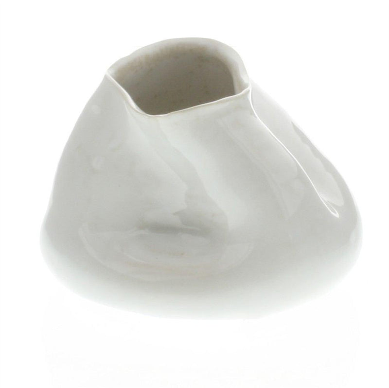 HomArt Canyon Ceramic Vase - Fancy White - Small