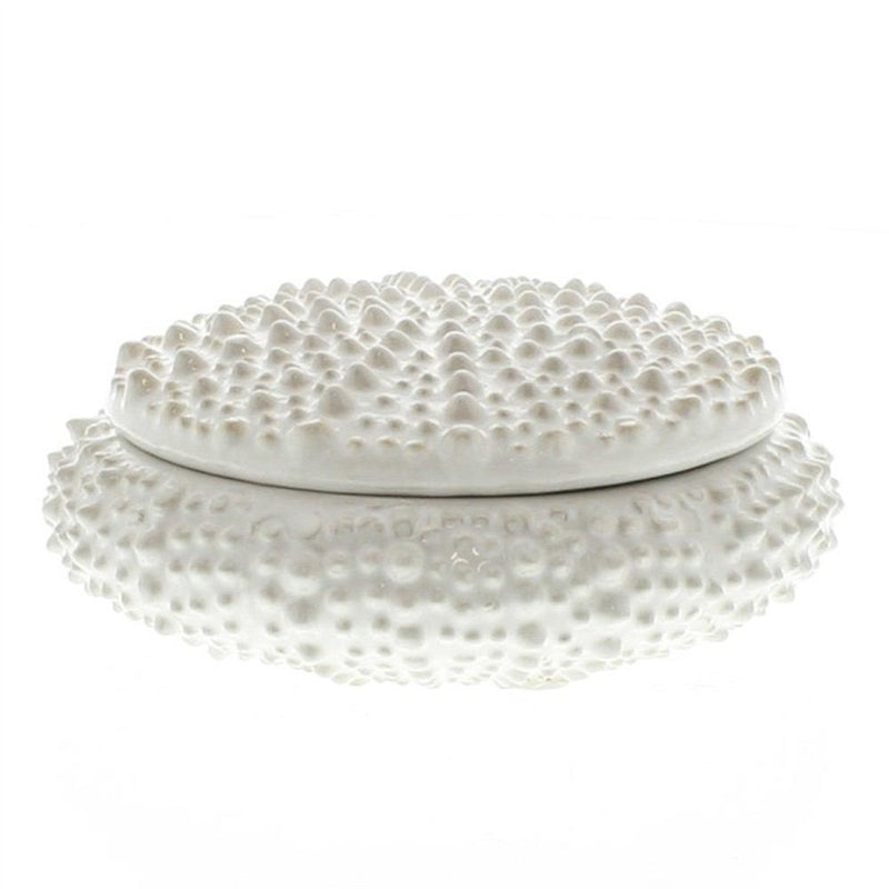 HomArt Urchin Ceramic Box - White - Small