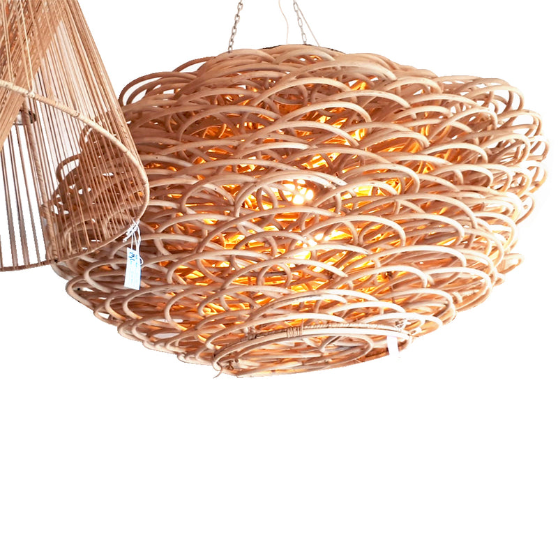 Chandelier Made of Natural rattan Wood