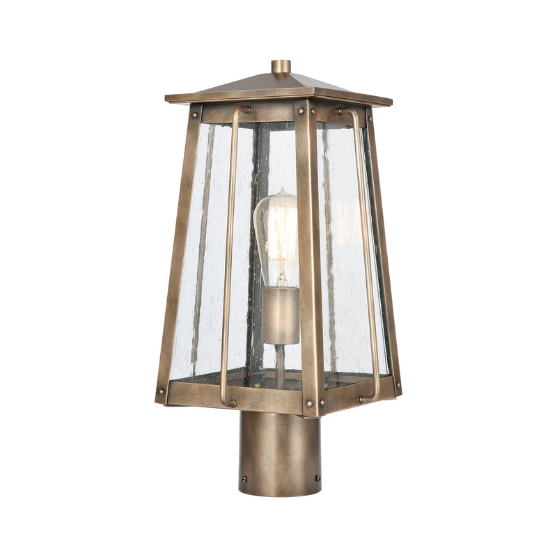 Kirkdale 2-Light post mount in Vintage Brass ELK Lighting