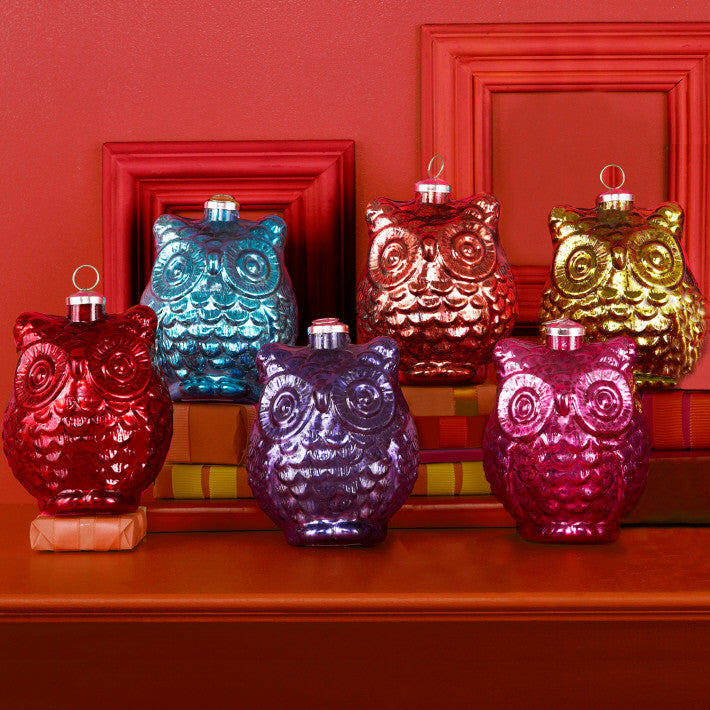 Two's Company 12 Pc Large Owl Ornament Unit
