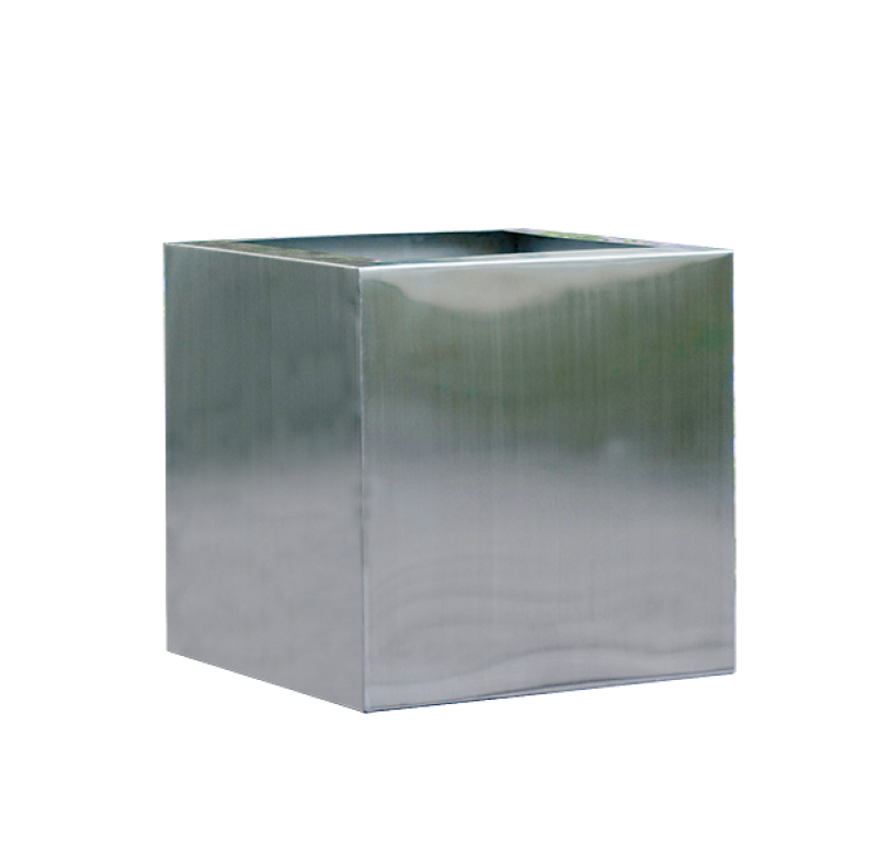 "Gold Leaf Design Group Stainless Steel Cube - 18"" Sq"
