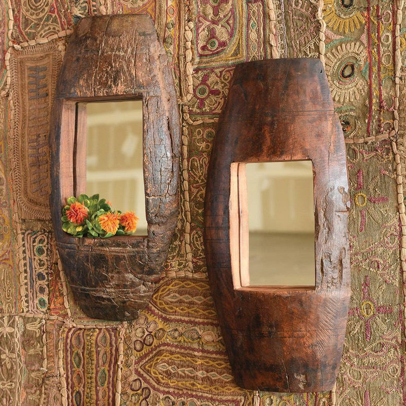 HomArt Axel Mirror - Salvaged Wood - Set of 2 - Feature Image