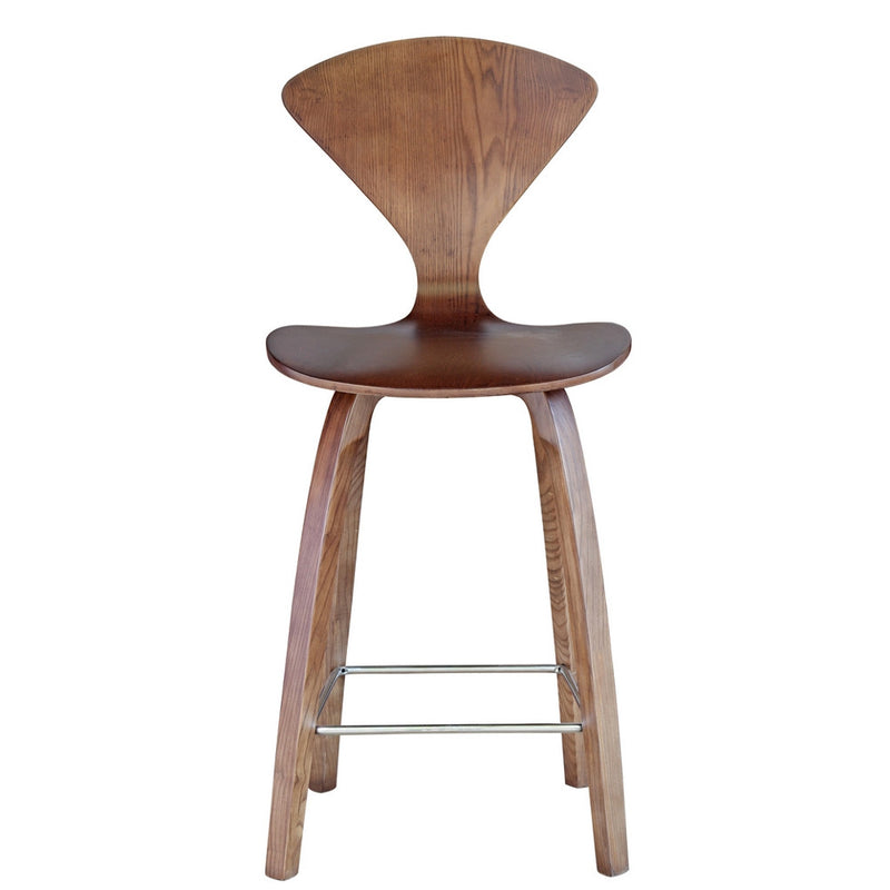 Fine Mod Imports Wooden Counter Chair 25""