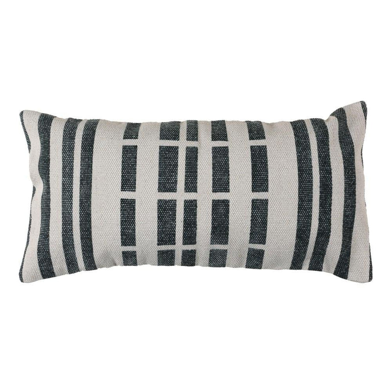 HomArt Block Print Lumbar Pillow - 12x24 - Broken Stripe