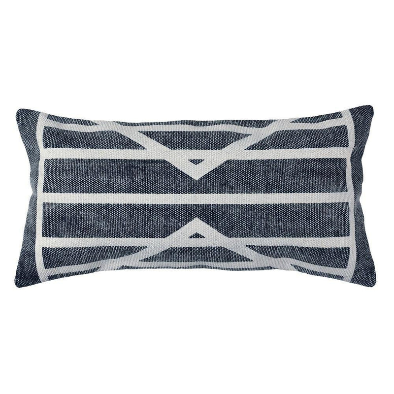 HomArt Block Print Lumbar Pillow - 12x24 - Set of 2 - Feature Image
