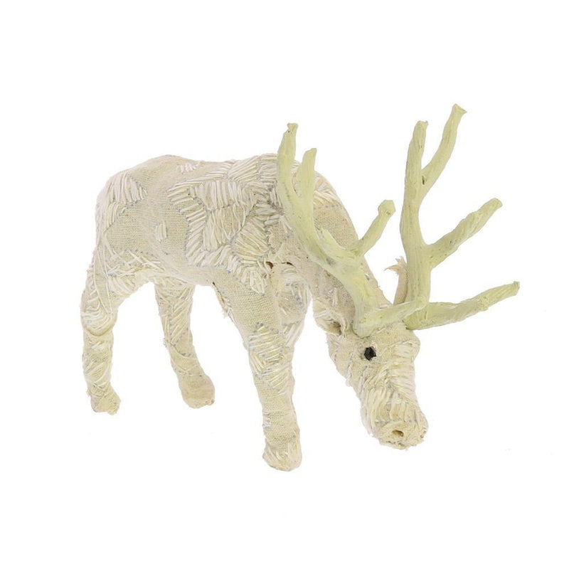 HomArt Scandinavian Stag Grazing - Embroidered White - Petite