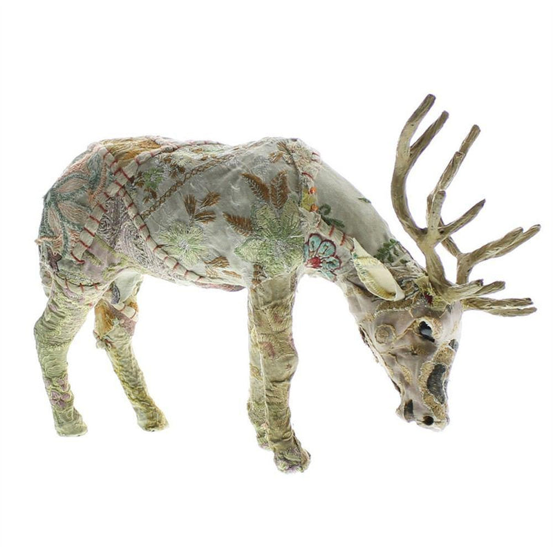 HomArt Bavarian Forest Stag Grazing - Small - Set of 2