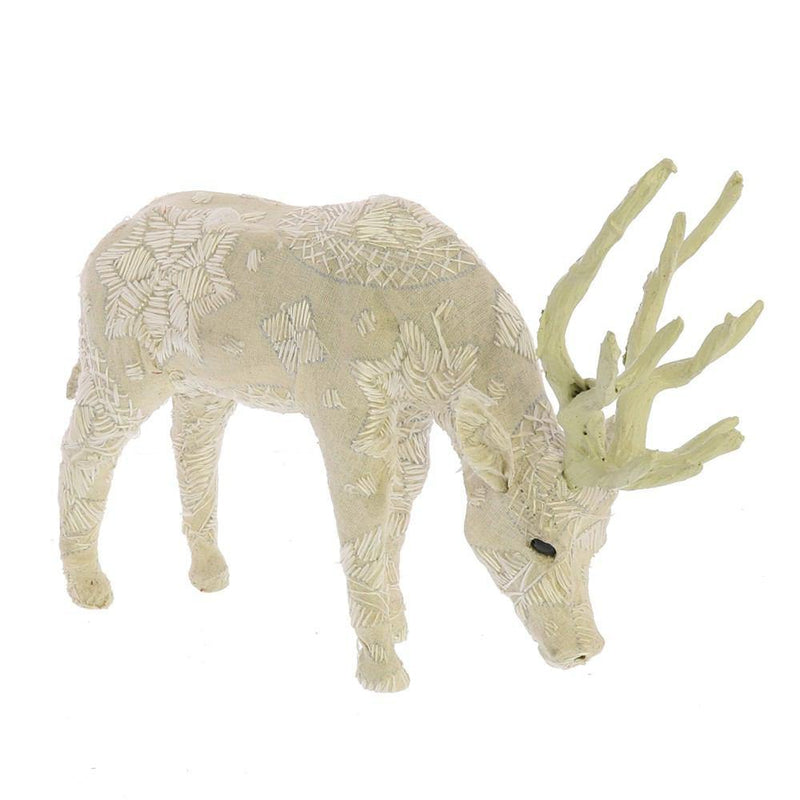 HomArt Scandinavian Stag Grazing - Embroidered White - Small