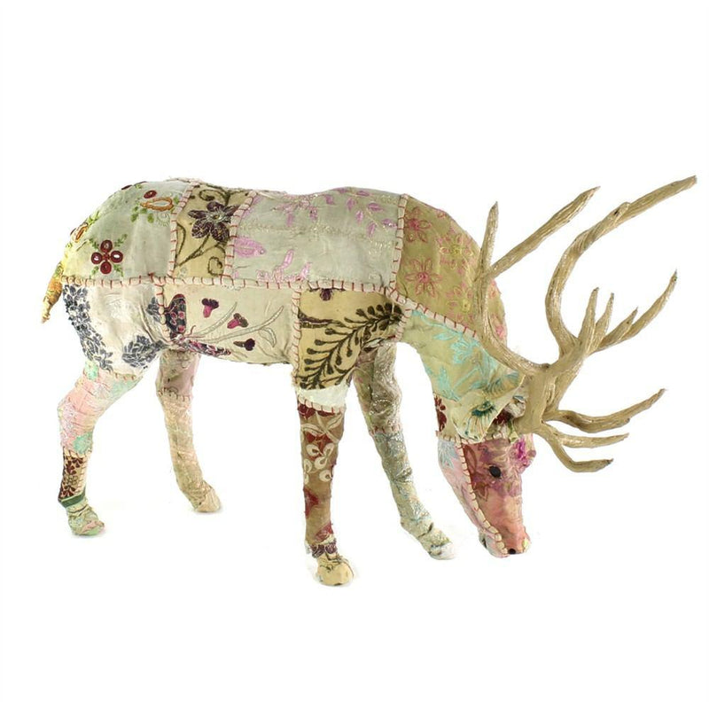 HomArt Bavarian Forest Stag Grazing - Beige Sari - Feature Image