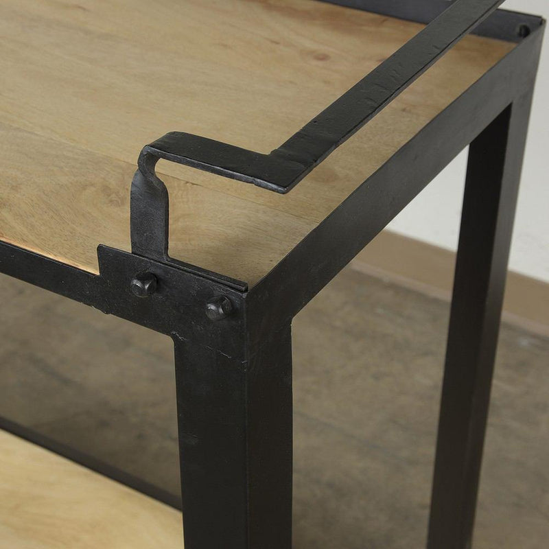 HomArt Mateo Bar Trolley - Iron and Wood - Black - Feature Image