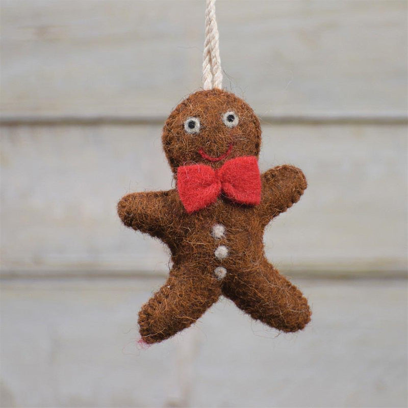 HomArt Felt Gingerbread Man Ornament - Set of 6 - Feature Image