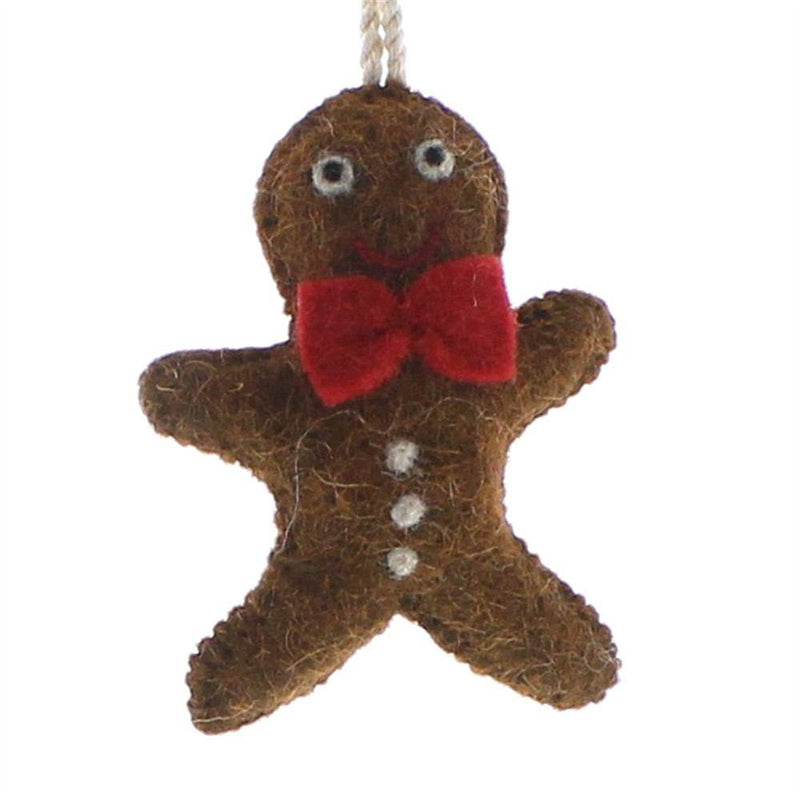HomArt Felt Gingerbread Man Ornament - Set of 6