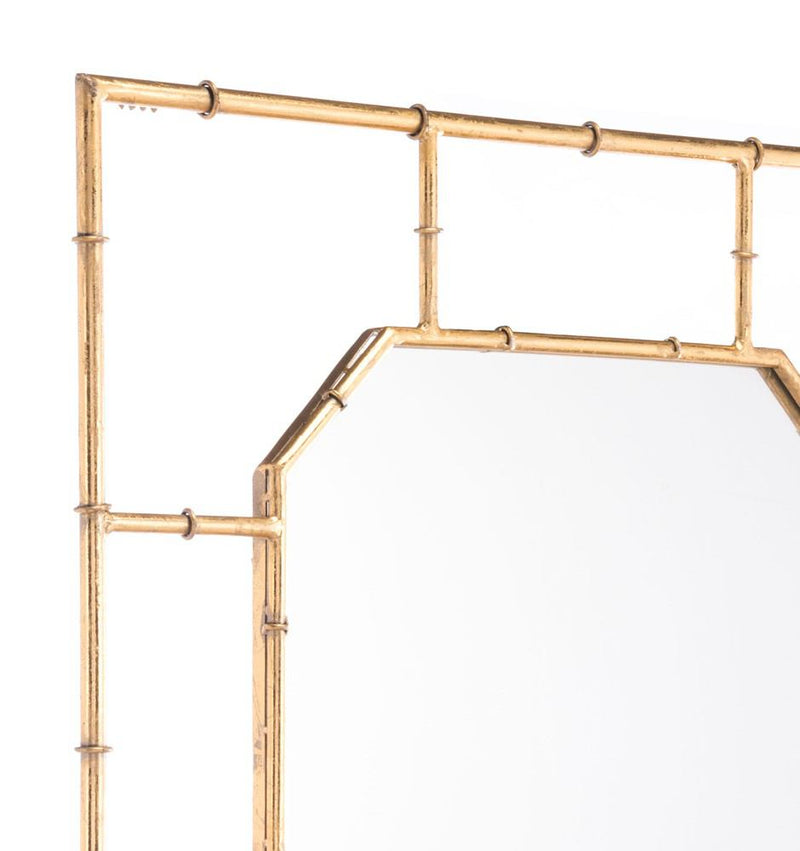Zuo Bamboo Square Mirror Gold