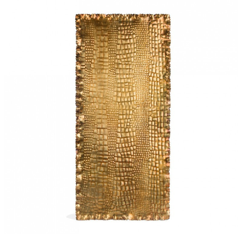 "Gold Leaf Design Group Crocodile 37"" Rectangle Platter"