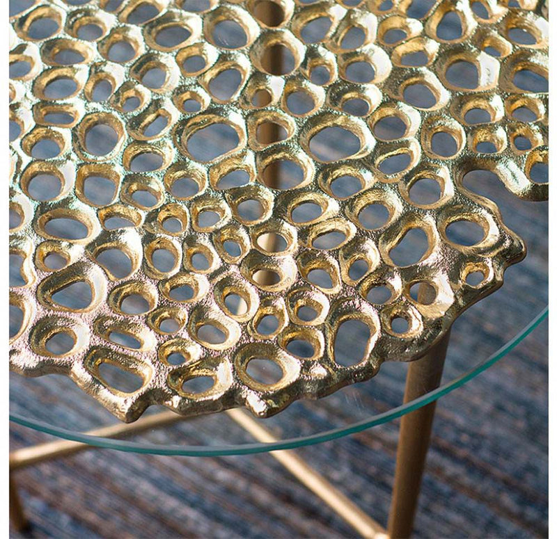 Gold Leaf Design Group Sponge Accent Table