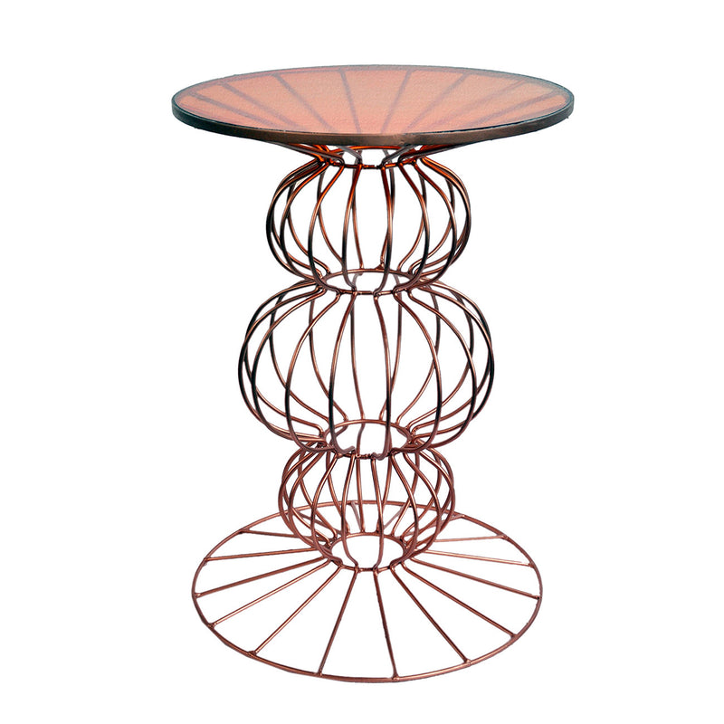 A&B Home Orianne Spherical Base Side Table