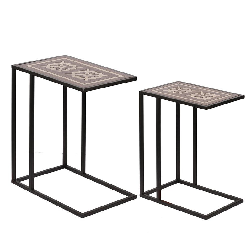 A&B Home Nesting Brass Side Table - Set Of 2