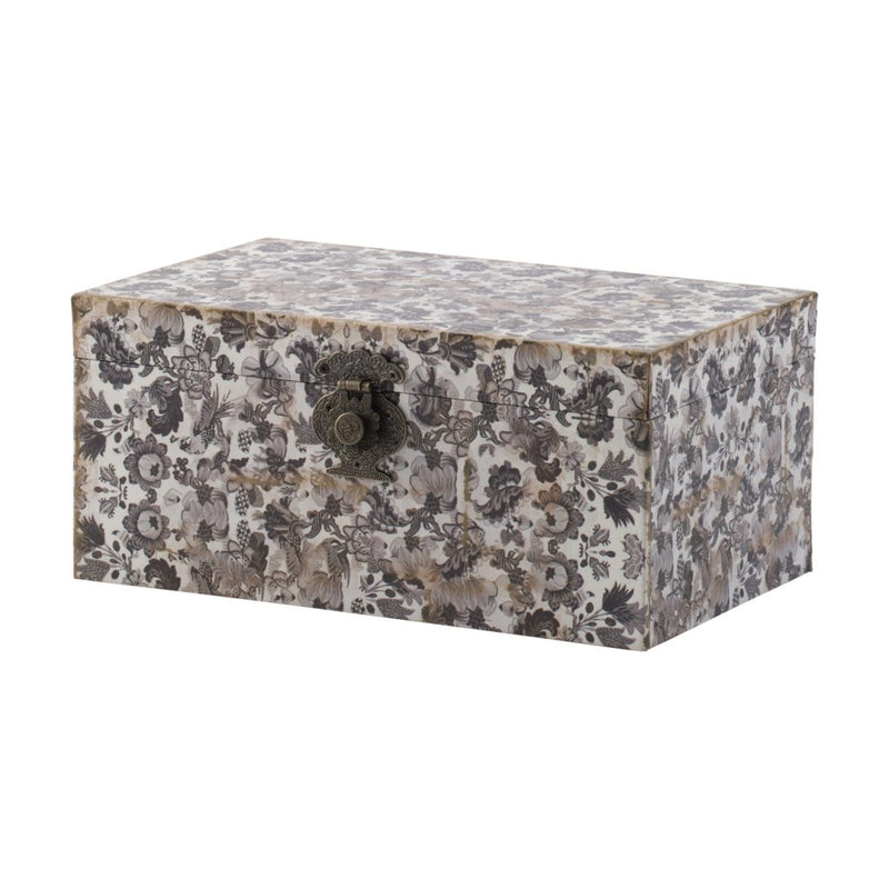 A B Home S 3 Decorative Box With Black And White
