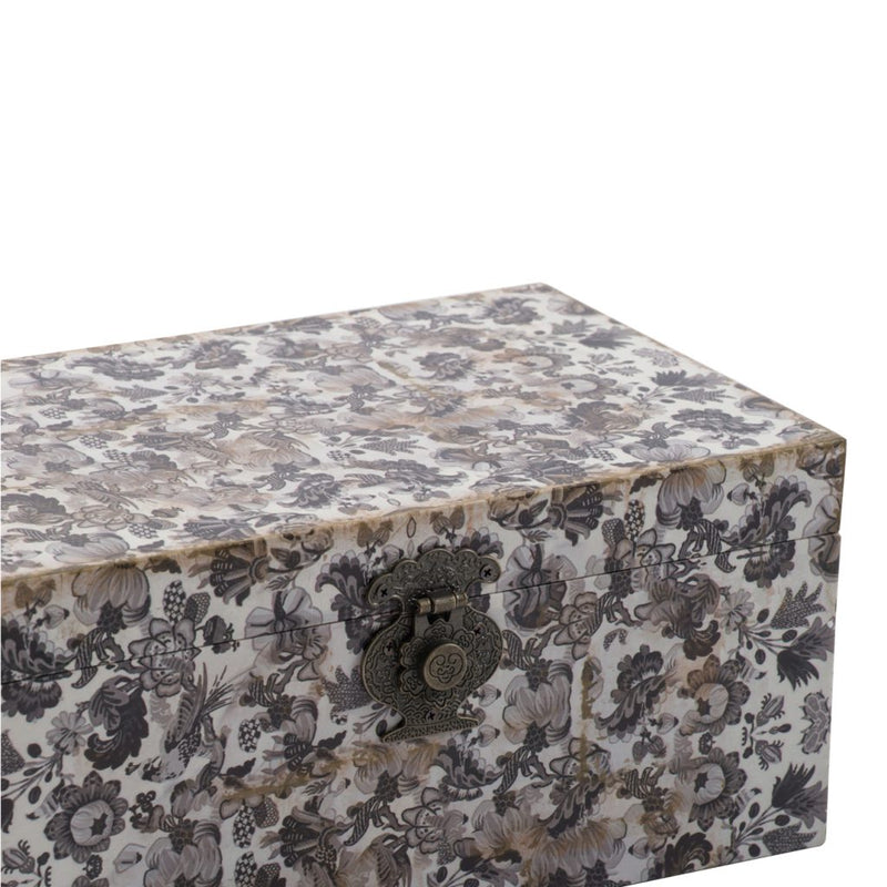 A&B Home S/3 Decorative Box with Black and White