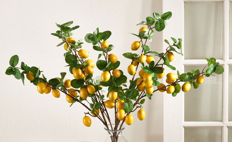 "Saro 32.5"" L  Lemon Branch - Set Of 4"