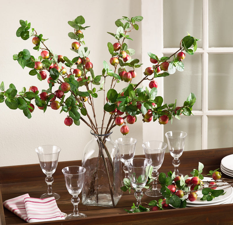 "Saro 32.5"" L Pomegranate Branch - Set Of 4"