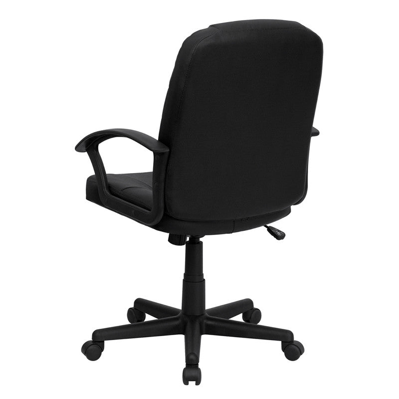 Flash Furniture Mid-Back Black Leather Executive Swivel Office Chair