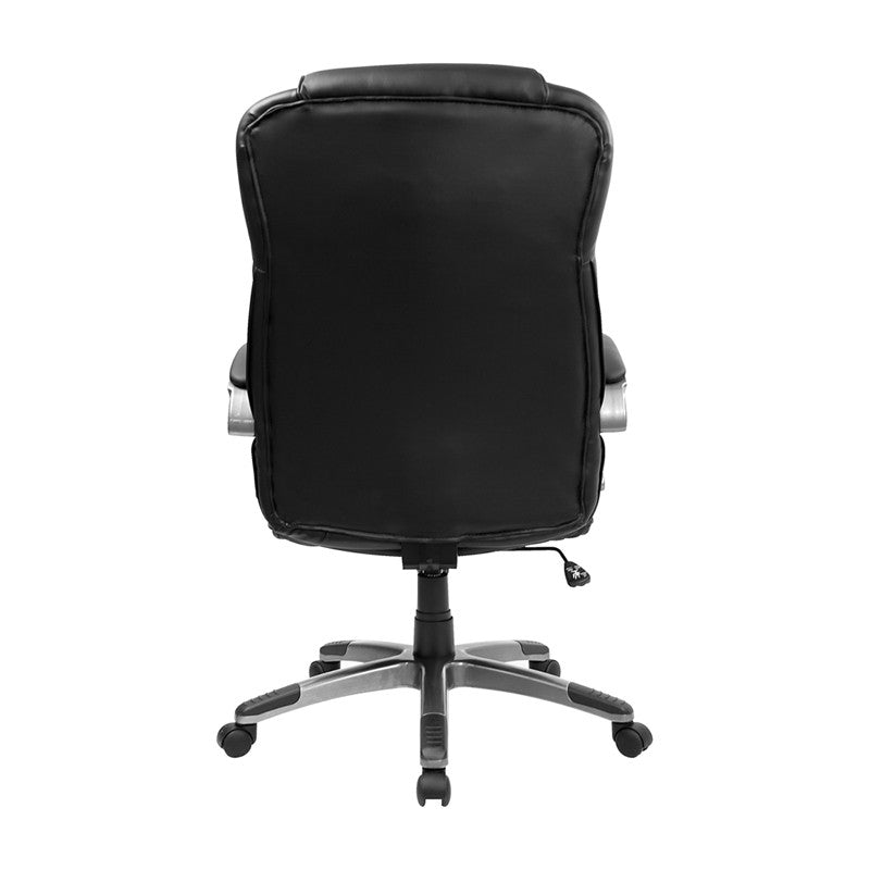 Flash Furniture High Back Black Leather Executive Swivel Office Chair