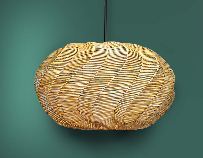 Rattan Spiral Sea Shell Pendant Light by Artisan Living