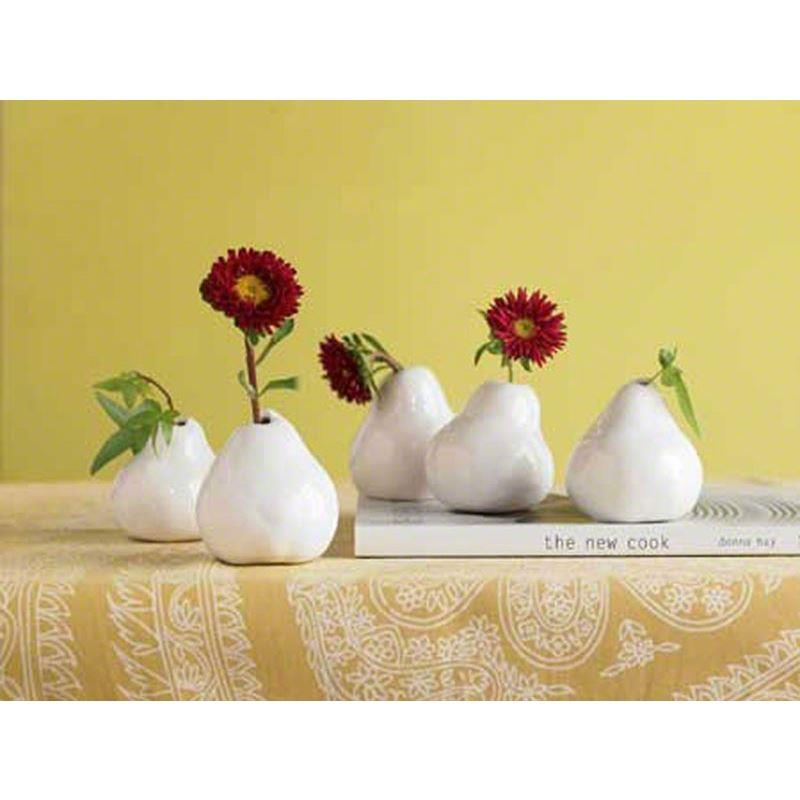 Haussmann Pear Vase White - Set of 5