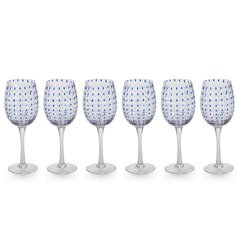 Zodax 9-Inch Tall Mavi Wine Glasses - Set of 6