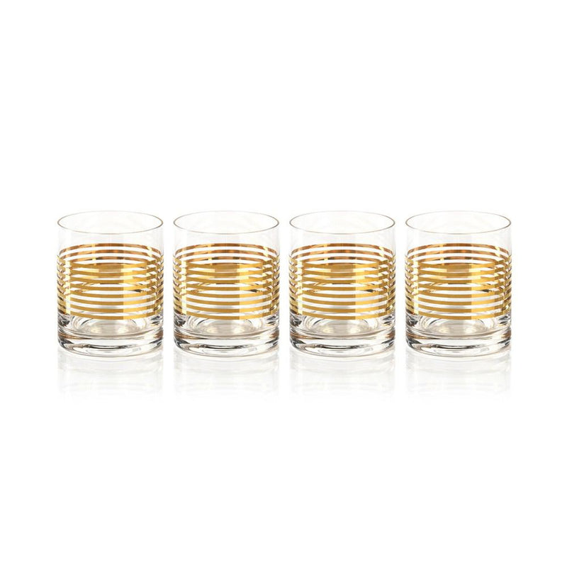 Zodax 4-Piece Stewart Rock Glass Set