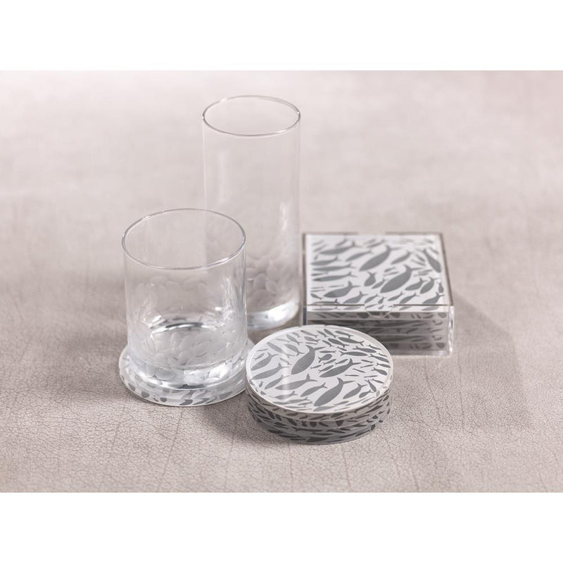 Zodax School of Fish Coasters with Holder - Set of 6