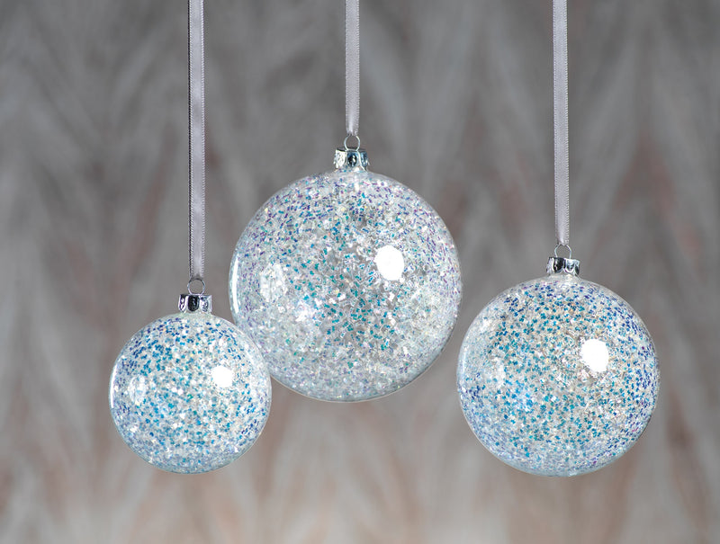 Zodax Silver Sequin Ornaments Set of 12