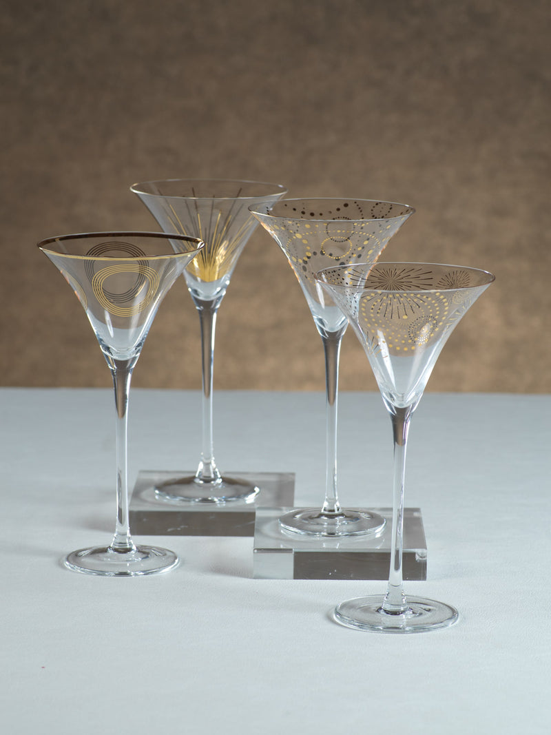 Zodax Celebration Martini Glass Assortment Set of 12