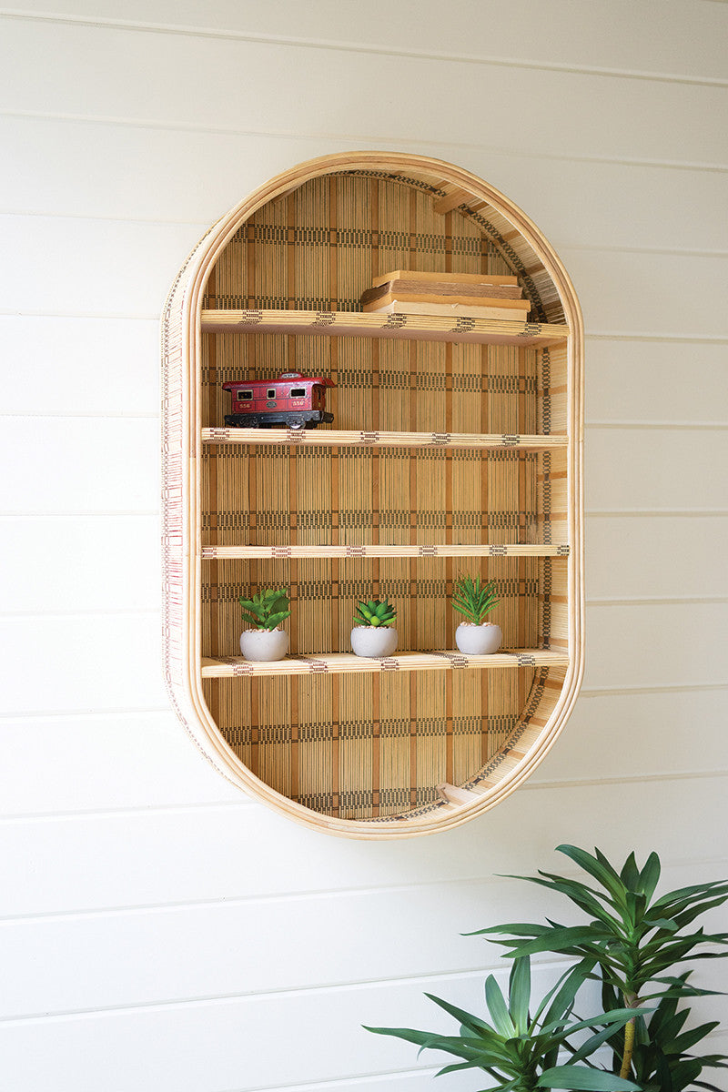 Oval Rattan Wall Shelf By Kalalou