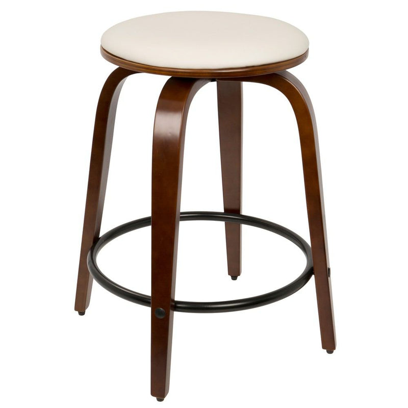 LumiSource Porto Counter Stools with Swivel - Set Of 2