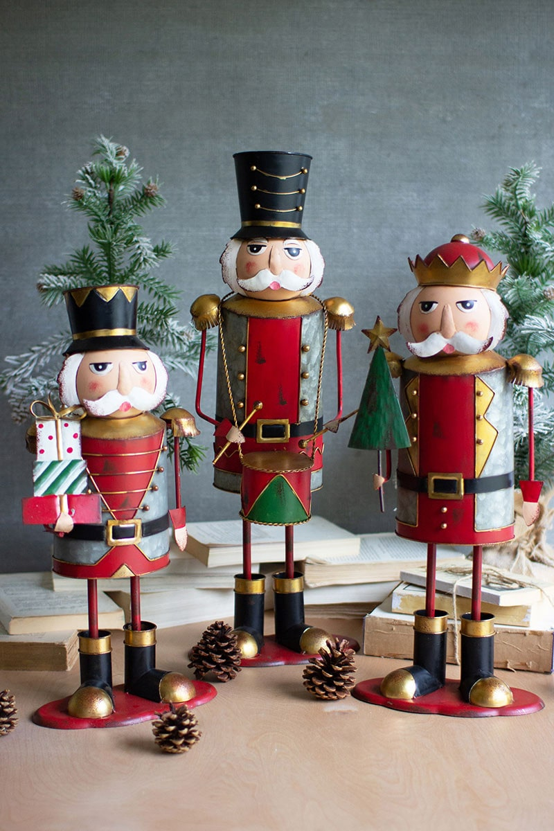 Painted Metal Nutcrackers S/3 By Kalalou