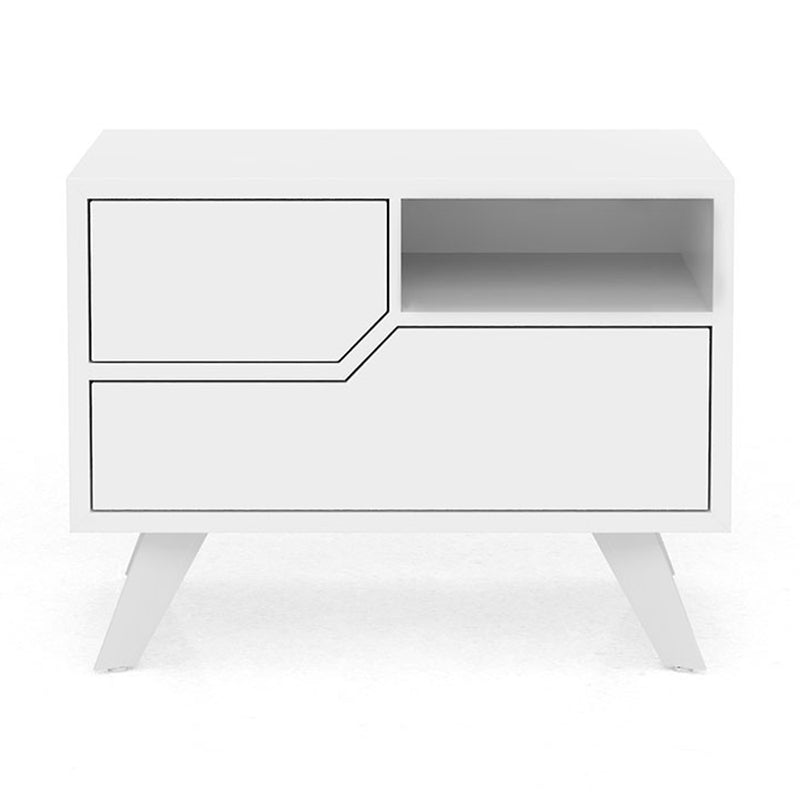Modloft Rivington Right/Left-Facing Nightstand in Glossy White