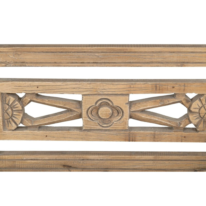 Promenade Mindi Wood Carved Wood Bench DF-PR206 by Jeffan