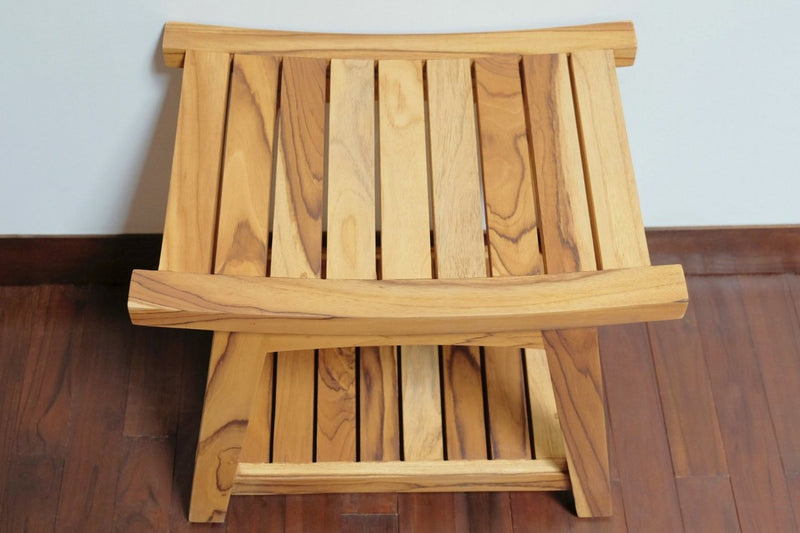 Masaya Ometepe Teak Shower Stool
